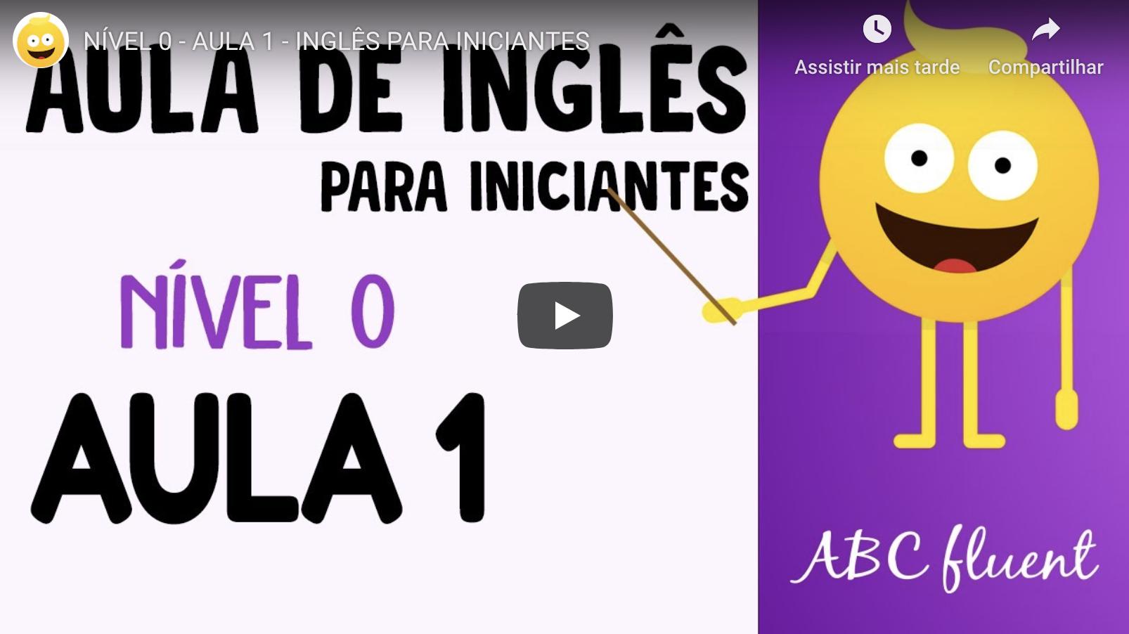 Curso de Inglês gratuito